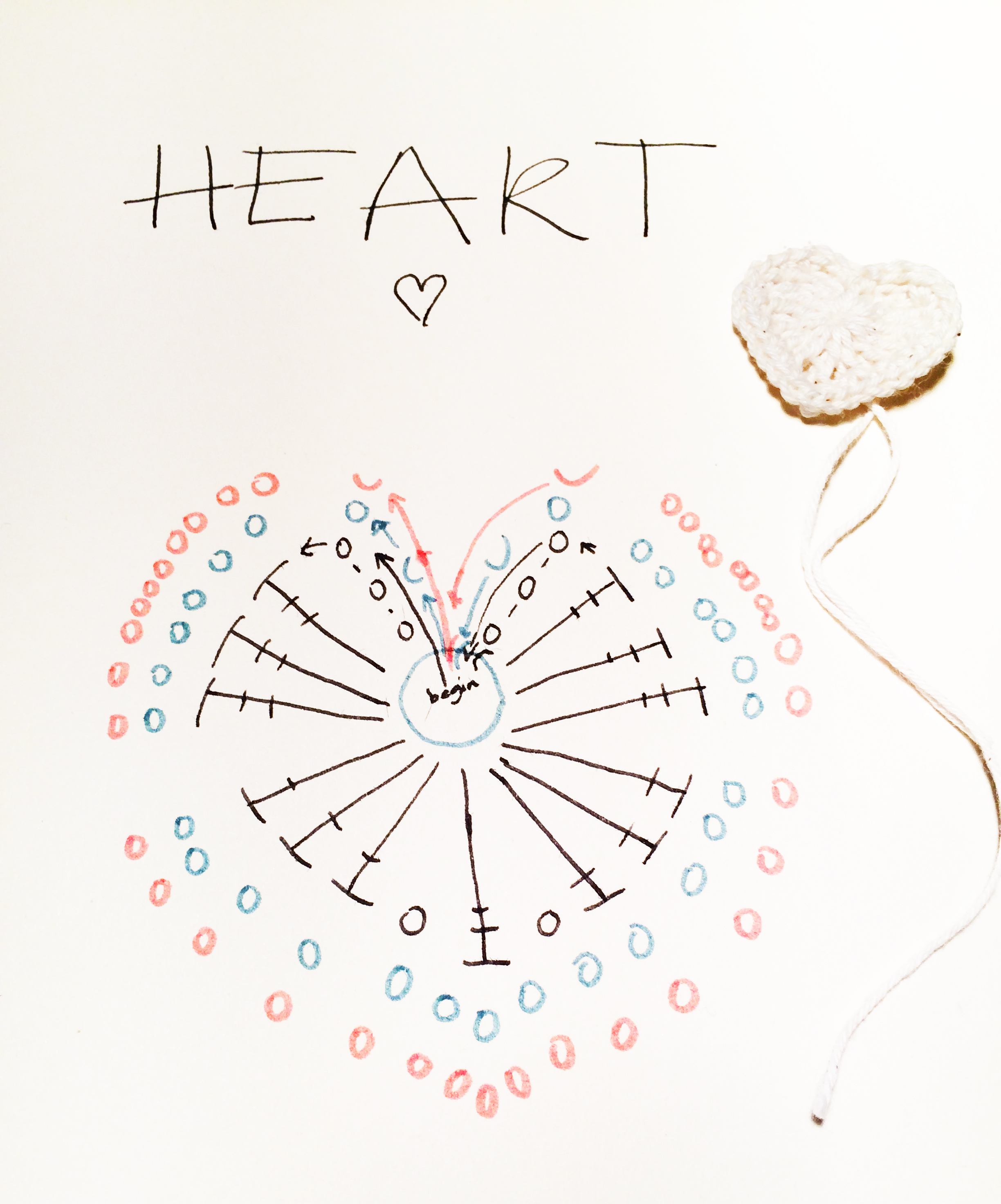 tutorial crochet heart- patroon gehaakt hart  http://www.warrelwater.nl