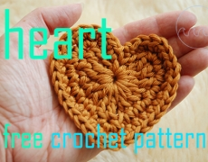 Patroon gehaakt hart ~ DIY tutorial crochet heart